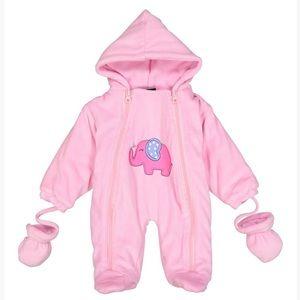 Pink Elephant Velour Bunting